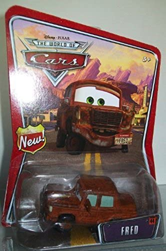 Frot Disney Pixar Cars Mattel World of Cars BackGründ Card With New Sign Symbol On Left Side of BackGründ Card by Disney