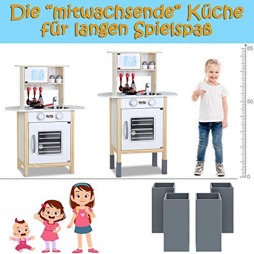 Spielzeugküche Spielküche Kinderküche Happy Kitchen 35 Teile Zubehör Holzküche Lichteffekt Kinder Spielzeug Lernspiel - 5