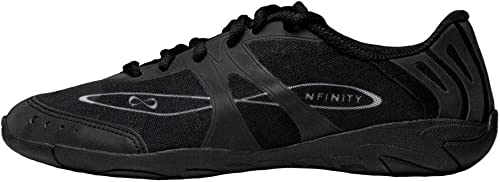 Nfinity Vengeance Cheer Shoe | Competition & Varsity Cheer Gear | Adult & Youth Cheerleading Uniform Shoes | Cheerleader Supplies | Nfinity Signature Bubble Laces | White product image