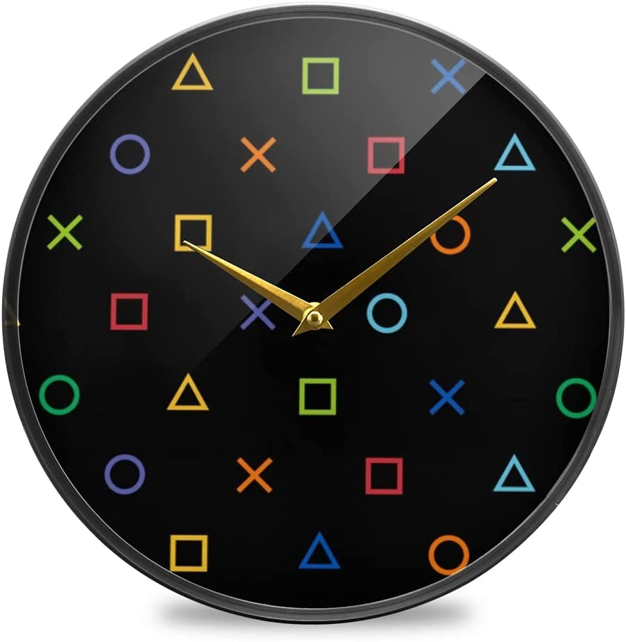 Mesa Mall Wall Fees free!! Clock Round Creative Hanging Clocks Colofrul Sil Gamer