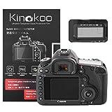 kinokoo Película de Vidrio Templado para Canon EOS 5D Mark III/5DS/5DS R Crystal Clear Film Protector de Pantalla Canon EOS 5D3 con Protector de Pantalla Superior (Paquete de 2)