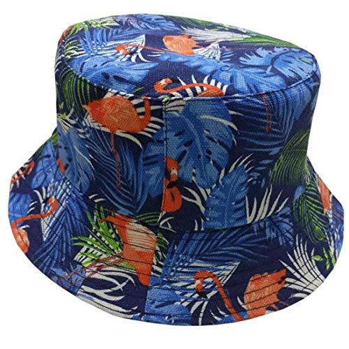 None Fischerhut Unisex Herren Damen Causal Outdoor Bucket Aufdruck Fashion Hat Einfach Unikat Style Sunscreen Schlapphut (Color : Flamingos 1, Size : One Size)