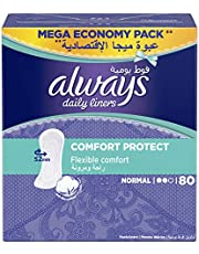 Always Daily Liners Comfort Protect Normal 80 count