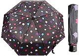 Paraguas de viaje compacto clásico a prueba de viento plegable clásico con estampado