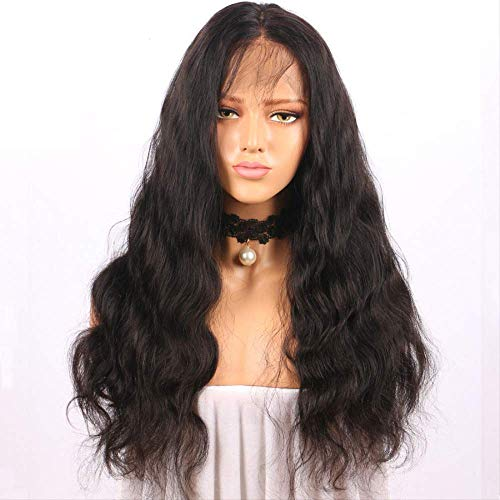 Wig Lady Chemical Fiber Before Lace Free Split Black Long Curly Wig Headset Role Play Halloween 20 inches Black