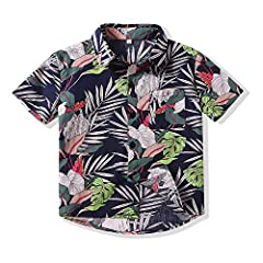 ❀❀Skin-Friendly Material: good air permeability, soft and comfortable to wear. ❀❀Package Include: 1 x Boys Button Down Short Shirt. ❀❀Easy to wash: Machine / Hand Wash in Cold Water, Hang To Dry, won't fade after washing. ❀❀Fun, colorful designs are ...