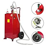 MOTOOS 30-Gallon Portable Oil Transfer Gasoline Tanks Gas Caddy Storage Diesel Kerosene Storage Containers with Pump for Boat ATV Car Mower Red
