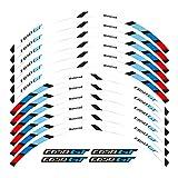 bazutiwns Pegatina de la Rueda de la Motocicleta Stripte Rave RAZÓN REFRENTE Compatible con BMW C650GT HSLL (Color : 1)