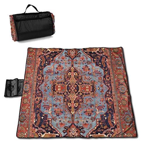 Olie Cam Manta de Picnic Tradicional Persa Isfahan Estilo de Alfombra Vintage...
