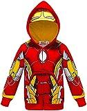 Chaqueta de superhéroe con capucha para niños SPI-derman con cremallera completa (color: Iron Man, tamaño: 140)