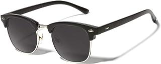 Semi Rimless Sunglasses for Women Men Polarized Classic...