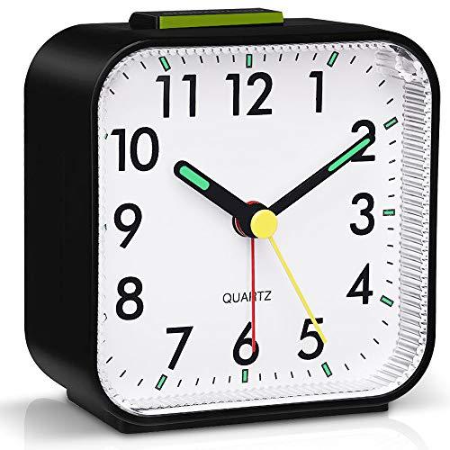 Tisaika Silent Alarm Clocks Bedside Non Ticking Battery Powered Table...