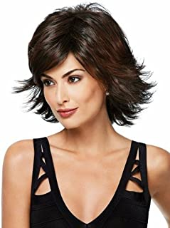 Natural Hairpieces Women's Fashion Short Straight Hair Wig Comfortable Brown Daily Wig