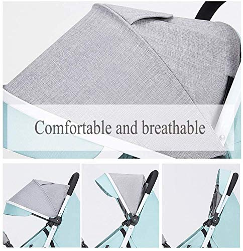 LAMTON Baby Stroller for Newborn, Baby Stroller Buggies Pushchair, Suitable for Children from 0 to 36 Months /20KG,47x67x103cm (Color : Purple) LAMTON Adjustable handlebars for people of all heights can adjust the most comfortable push position Easy to fold, can be picked up in the trunk of the car, his parents urge him to go shopping, travel, walk, play and talk, or picnic outdoors ★The body is made of high-quality steel pipe, strong and durable, strong load-bearing, soft pedals, safe and environmentally friendly, will not scratch the baby, strong toughness and durability 4