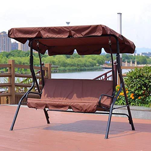 NOSSON Hängesessel con soporte, Schaukel Hängematte jardín Patio silla asiento con Baldaquino banco muebles Liege Shelter Outdoor, marrón