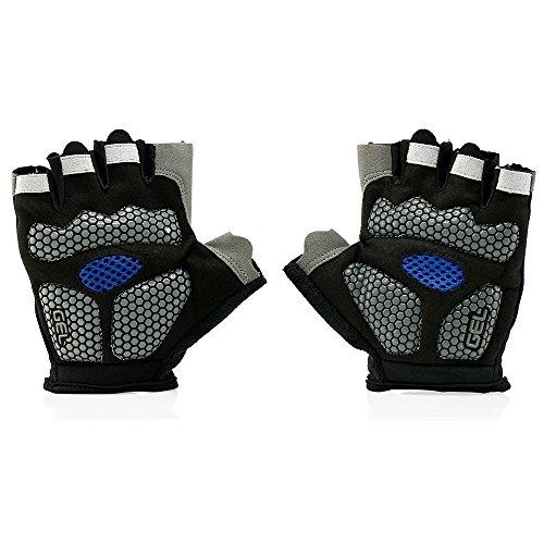 GEARONIC Mens Cycling Gloves, Fingerless Mountain Bike Gloves for Men, Breathable MTB bicycle gloves, Gel Padded Road biking gloves, Anti-slip Road Motorcycle Gloves for Men/Women, Half Finger Guantes