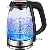 Electric Kettle Glass Tea Kettle, 1.7L Ultra Fast Water...