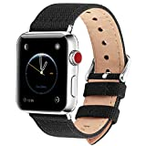 Fullmosa Compatible avec Bracelet Apple Watch 38mm 40mm en Tissu, 8 Couleurs Canvas...