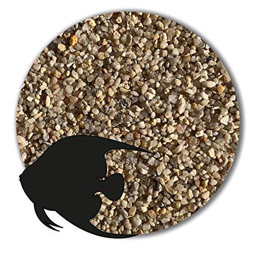 25 kg Aquariumsand Aquariumkies natur beige gerundet und feuergetrocknet (1,0 - 2,0mm)