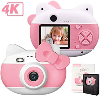 le-idea Cámara para niños Cámara de Fotos Digital 12MP Recargable Cámara 1080P HD Video cámaras para Niños Niñas con Zoom Digital 4X 2 IPS os Regalos Cumplea Navidad (Rosa)