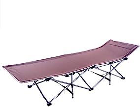 Folding Bed Folding Bed Leisure Sun Lounger Adjustable Backrest Portable Recliner Beach Camping Garden Folds Easy Storage...