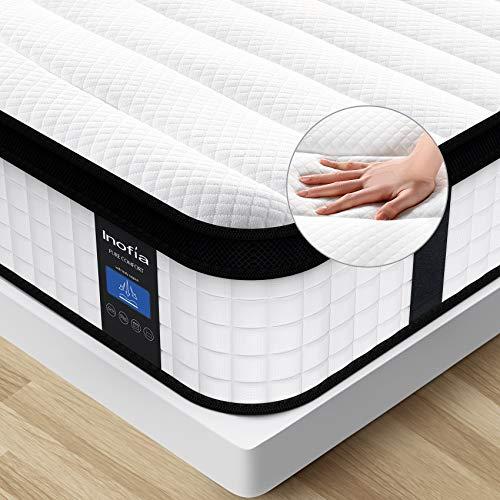 Inofia Full Mattress, 12 Inch Hybrid Innerspring Foam Mattress, Double Bed in a Box, Medium Firm Mattress for More Comfort, Full Size