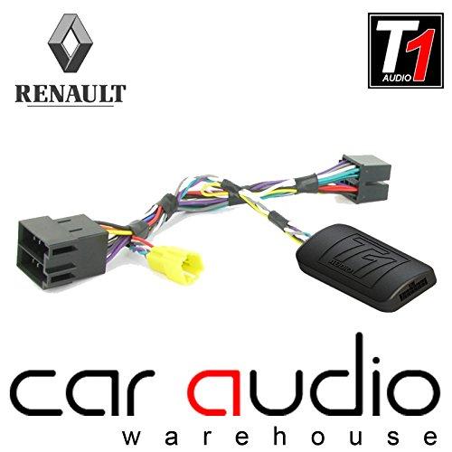 Adaptador de interfaz de control T1 Audio T1-RN5 para mando de volante de coche con cable de conexión para Renault Clio, Megane, Scenic, Laguna, Modus y Twingo