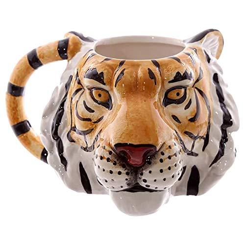 Marxways_ Tigerbecher,Hand-Painted Tiger Head 3D Keramik Spaß Kaffee Milch Becher Kaffee Tasse Mit Griff, Perfekter Urlaub Oder Geburtstag Geschenk,Kaffeetasse Wasserbecher Milchbecher