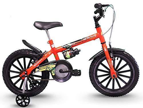 Bicicleta Infantil Aro 16 Dino Laranja Neon, Track Bikes