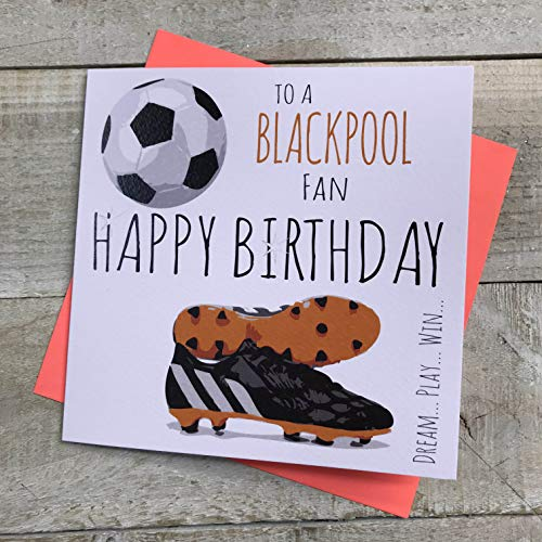 Blackpool FC Football Club Birthday Card - by WHITE COTTON CARDS - FFP92