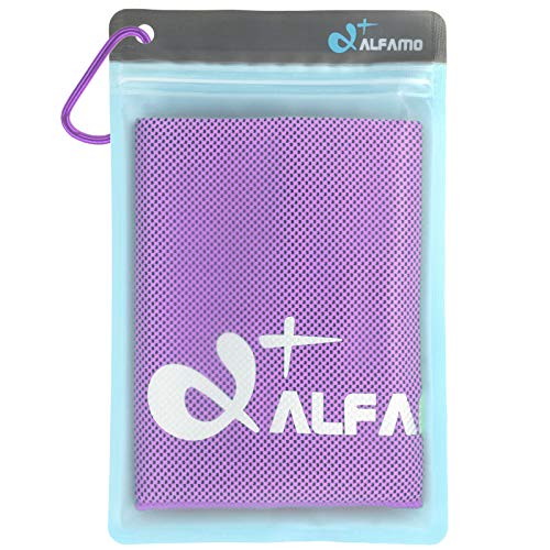 Cold Cool Cloth (Violet, S) Super Compact Ice Towels Nice Birthday Gifts for Active People Family Members Father Mother Dad Mom Husband Wife Grandson Granddaughter Co-Workers Clients Boss Best Friend