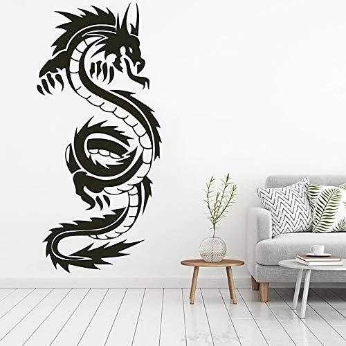 hetingyue hoogwaardige Chinese draak muur woonkamer decoratie vinyl afneembare kunst muursticker