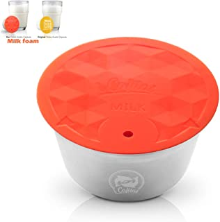 Refill coffee capsules Comfortable Milk Foam Compatible for Dolce Gusto Capules Maker Stainless Steel Milk Bubber Capsules with Cleaning Brush(Using Hundred's times,2019 New)