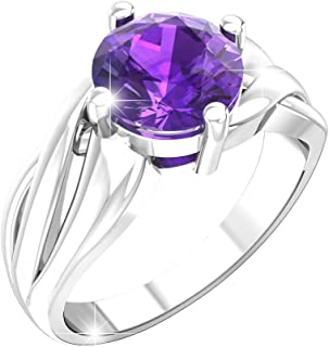 Belinda Jewelz 925 Sterling Silver Band Round Gemstone Womens Jewelry Ring