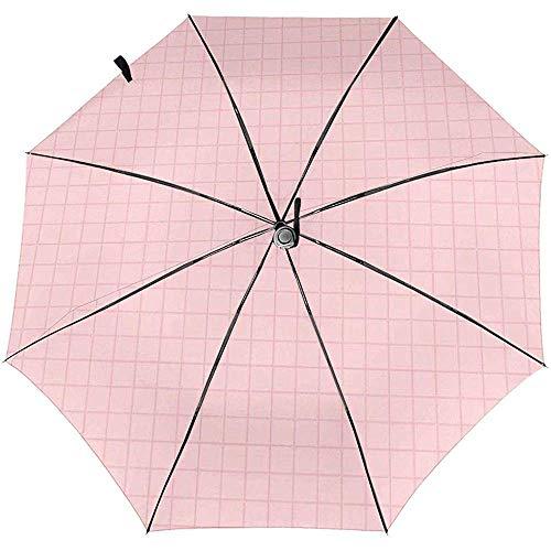 ATU-1231 Reise-Regenschirm mit Karomuster, automatisch, faltbar, Sonnenschutz, Winddicht