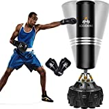 Freestanding Punching Bag with Stand 70'' 182lb Heavy Boxing Bag with Boxing Glove &Durable Suction Base for Adult Youth - Men Heavy Free Standing Punching Bag