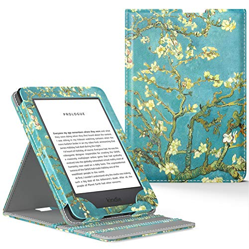 MoKo Case Fits All-New Kindle (10th Generation - 2019 Release Only), Vertical Flip Protective Cover with Auto Wake/Sleep, Will Not Fit Kindle Paperwhite 10th Generation 2018 - Almond Blossom