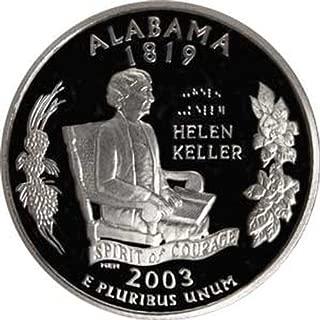 2003 Alabama S Gem Proof State Quarter US Coin