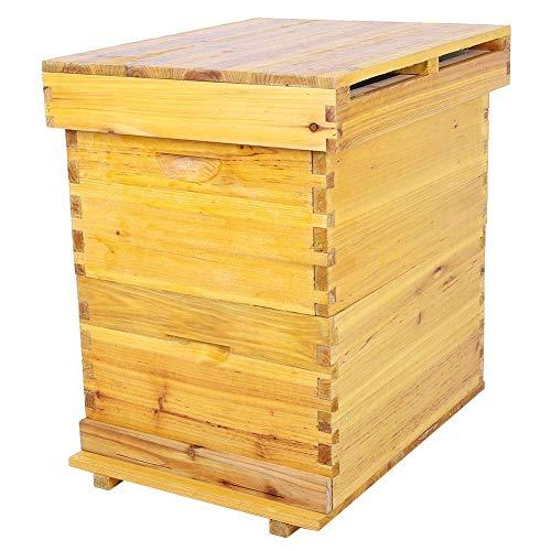 Caredy honingbewaker bijenstok imkerei bruthaus 10 frames bijenstok huisdoos automatische bijenkasthuur bijenteeluitrusting bijvoeding