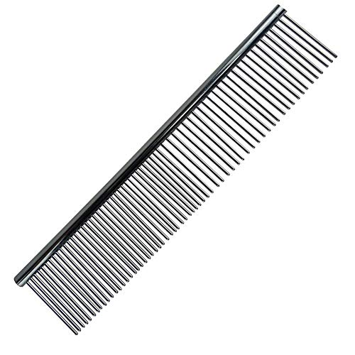 LFOZ Neue Trimmerpfleger Kammbürste Hohe Qualität Kamm Rake Haarschöpfung Kill Floh Für Haustier Katze Hund Kamm Für Hund 18 cmx4.2cm # R5 (Color : Silber)