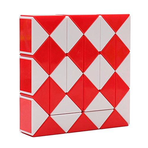 MZStech Magia Serpiente Twist Puzzle Twisty Toy Colección 36 Cuñas Magic Ruler (Rojo)