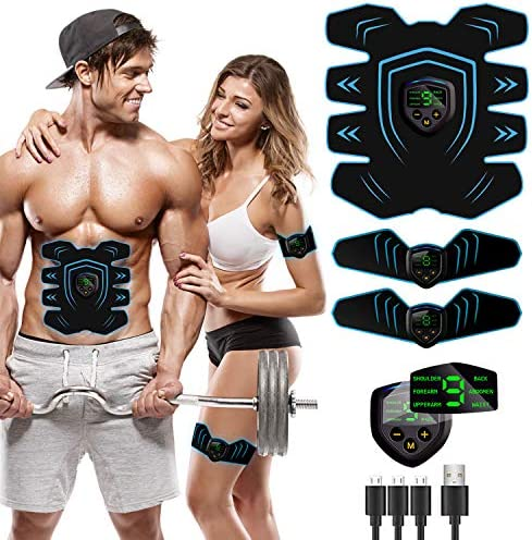 UMATE Abs Stimulator Workout Equipment for Home Workouts Muscle Stimulator USB Rechargeable product image