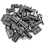 Tegg 25PCS FC-16P IDC Socket Connector Female 2x8 Pin Female Header Rectangular Connector Adapter 2.54mm Pitch...