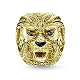 Material: 925er Sterlingsilber; 750er Gelbgold Vergoldung, schwarz emailliert Steine: Zirkonia schwarz Größe: 1,32x1,15cm