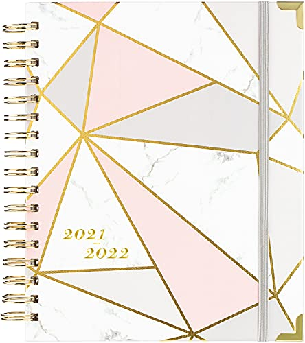 """2021-2022 Planner - Academic Weekly & Monthly Planner with Tabs and Thick Paper, Back Pocket with 15 Notes Pages + Gift Box - 8"""" x 10"""""""