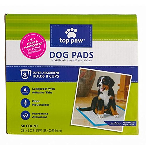 Top Paw Dog Pads | New & Improved! 2X More Absorbent (50 Count)
