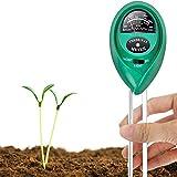 IWILCS Probador de Suelo 3-en-1, medidor de Humedad del Suelo, medidor de pH del Suelo y medidor de Intensidad de luz, para Suelo Vegetal, jardín, Granja, césped (no se requieren baterías)
