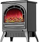 Chauffage de cheminée électrique Chauffage intérieur Poêle sur Pied avec Effet de Flamme...