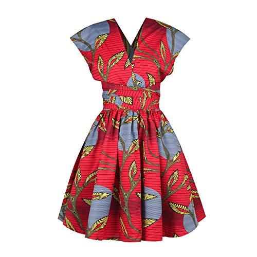 OBEEII - Vestido de mujer Boemo Africano Dashiki - Disfraz tradicional tnico elegante - Vestuario de ceremonia para boda, dama de honor o cctel Multicolore 008 S