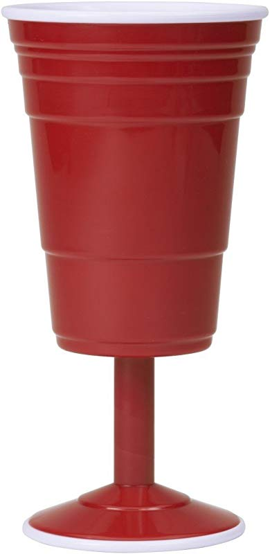 Red Cup Living Reusable Wine Cup 14 Ounce Red
